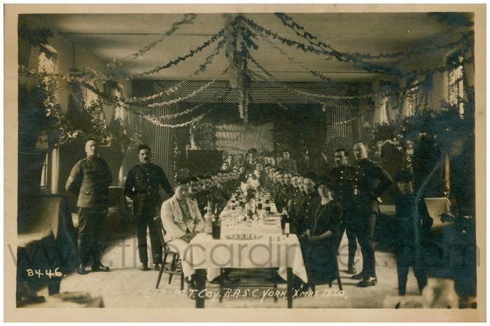 Postcard front: 612 M.T. Coy R.A.S.C. York 'Xmas 1920