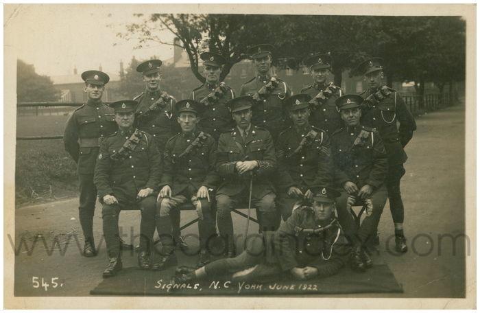 Postcard front: Signals, N.C. York. June 1922