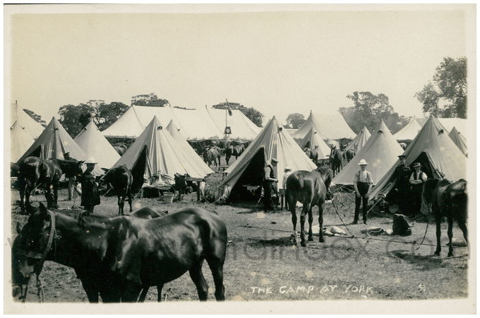 Postcard front: The Camp at York