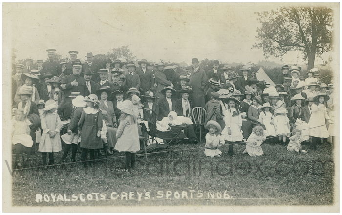 Postcard front: Royal Scots Grey's. Sports