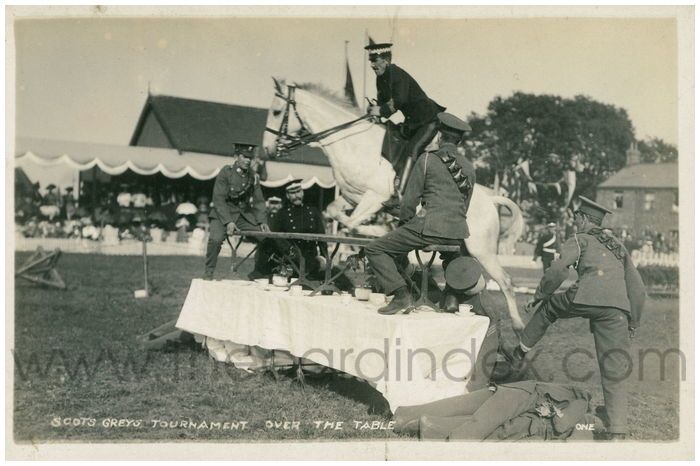 Postcard front: Scots Greys Tournament Over the Table