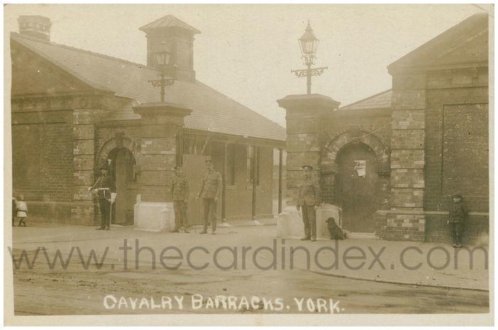 Postcard front: Cavalry Barracks. York
