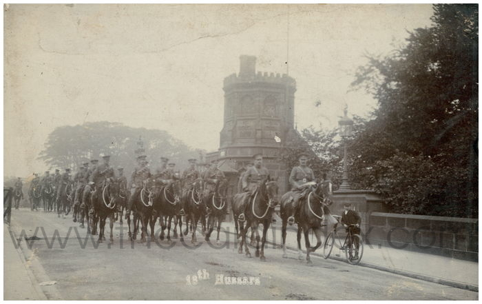 Postcard front: 18th Hussars
