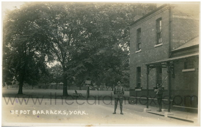 Postcard front: Depot Barracks, York
