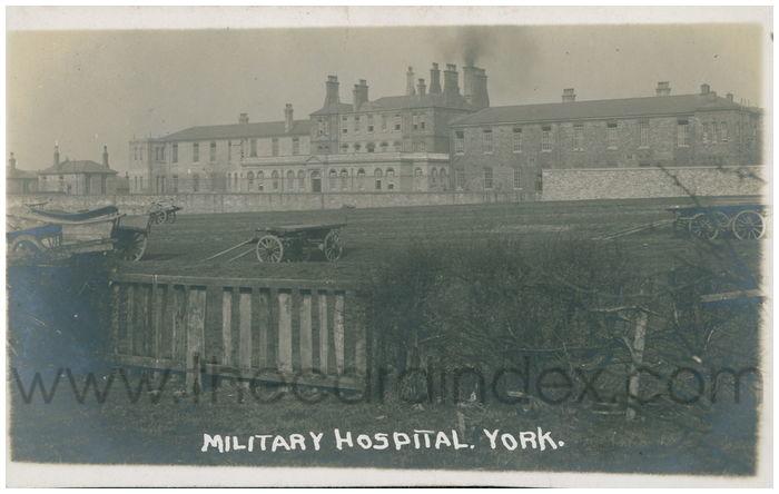 Postcard front: Military Hospital. York