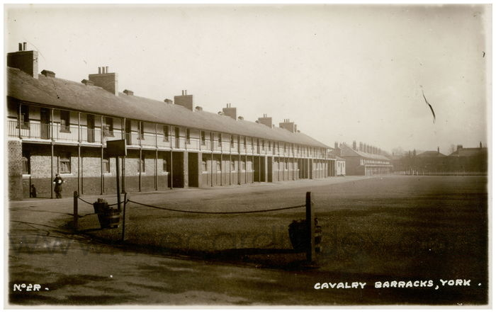 Postcard front: Cavalry Barracks, York