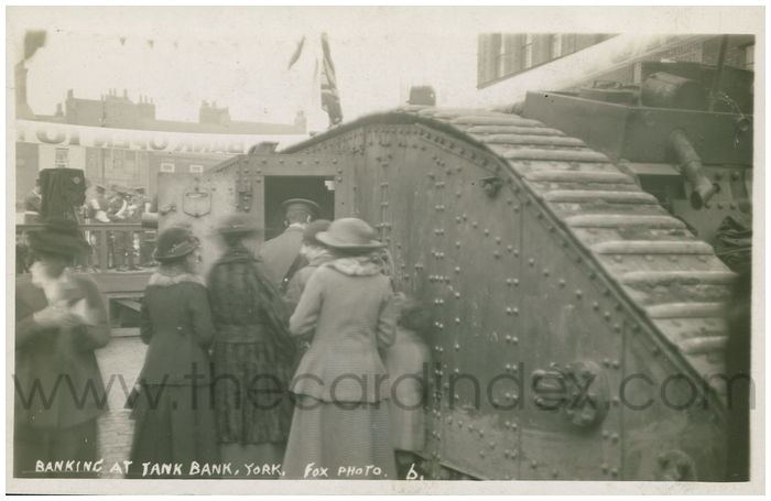 Postcard front: Banking at Tank Bank, York