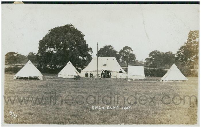 Postcard front: Y.M.C.A. Camp 1908