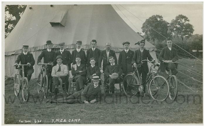 Postcard front: Y.M.C.A. Camp