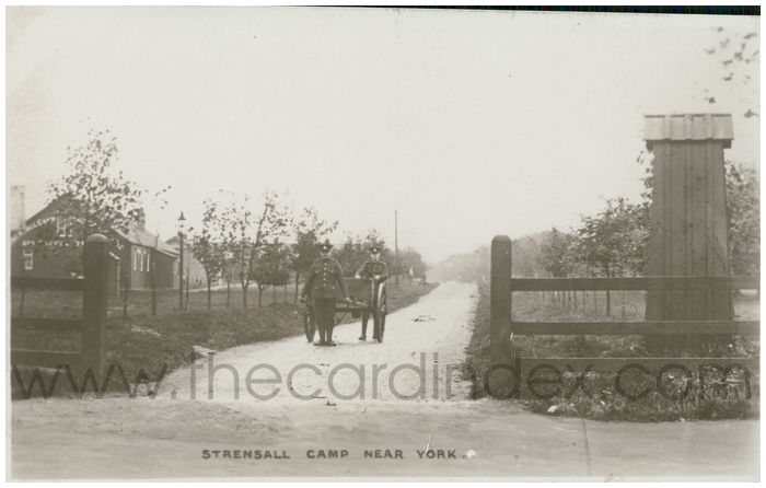 Postcard front: Strensall Camp Near York