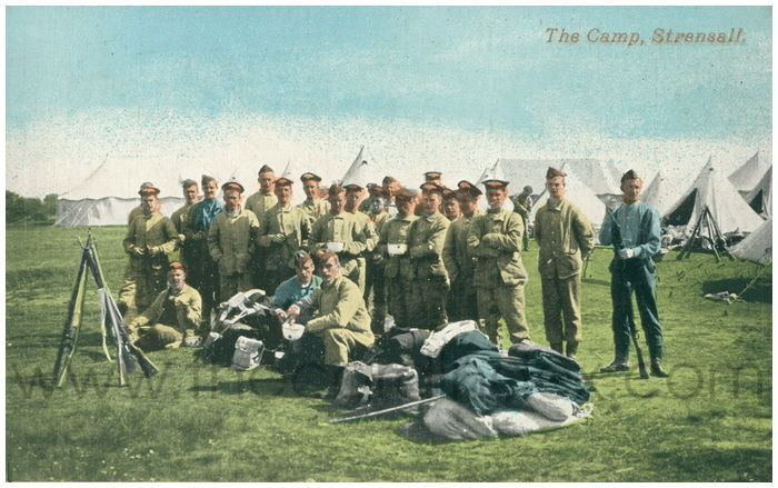 Postcard front: The Camp, Strensall