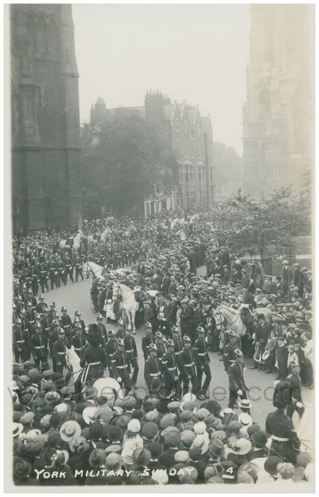 Postcard front: York Military Sunday