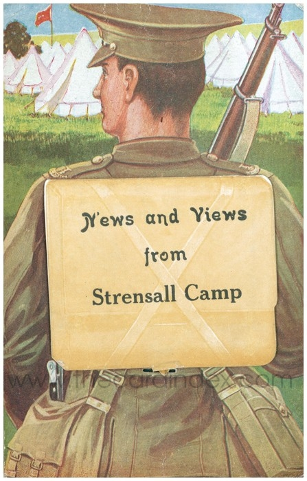 Postcard front: News and Views from Strensall Camp