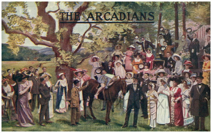 Postcard front: The Arcadians