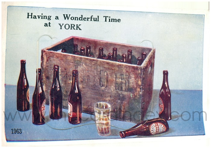Postcard front: Having a Wonderful Time at York