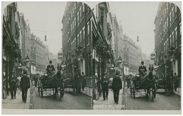 Postcard front: Coney St, York