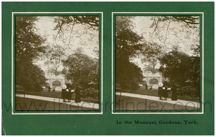 Postcard front: In the Museum Gardens, York