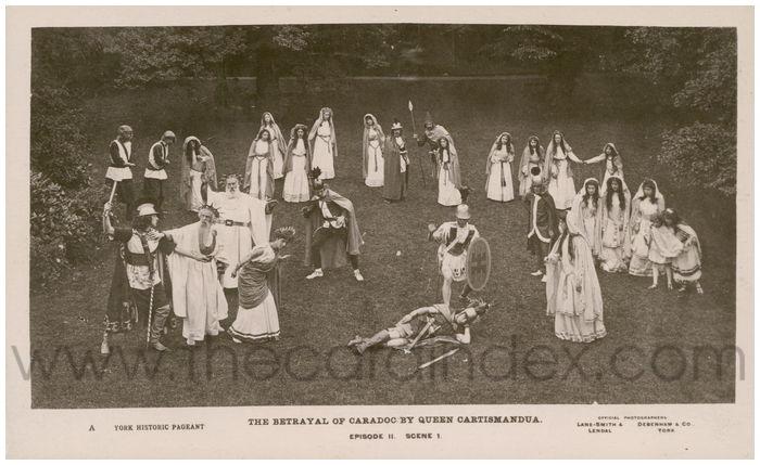 Postcard front: The Betrayal of Caradoc by Queen Cartismandua