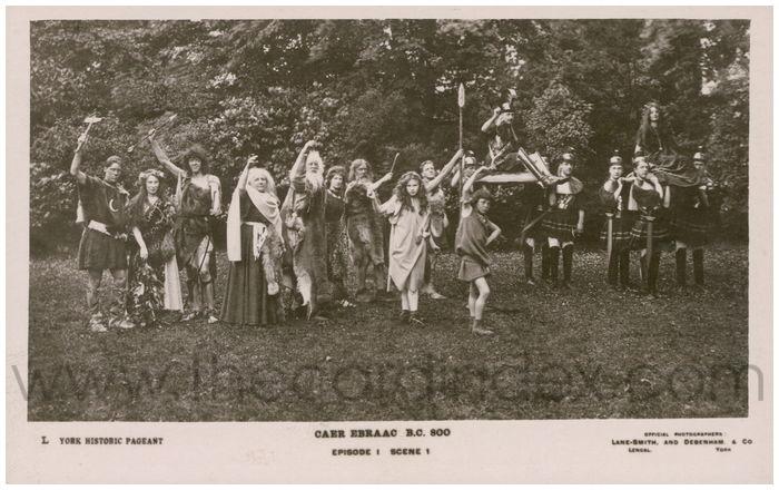 Postcard front: Caer Ebraac B.C. 800