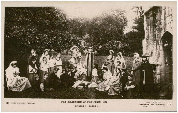 Postcard front: The Massacre of the Jews 1190