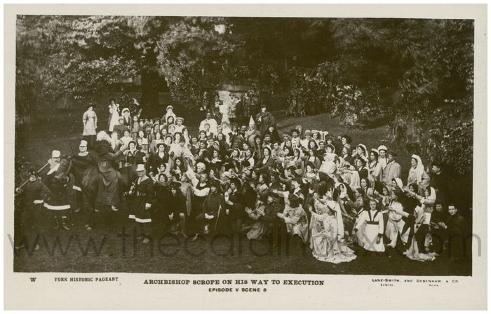 Postcard front: Archbishop Scrope On His Way To Execution