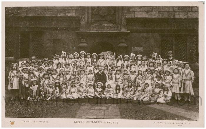 Postcard front: Little Children Dancers
