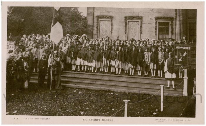 Postcard front: St. Peter's School