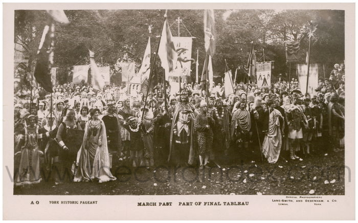 Postcard front: March Past Part of Final Tableau