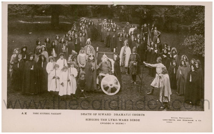 Postcard front: Death of Siward Dramatic Chorus Singing the Lyke-Wake Dirge