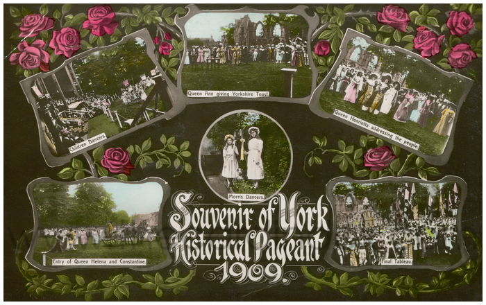 Postcard front: Souvenir of York Historical Pageant 1909