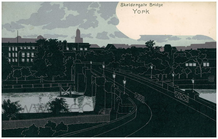 Postcard front: Skeldergate Bridge York