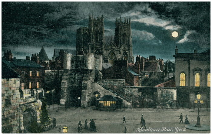 Postcard front: Bootham Bar, York