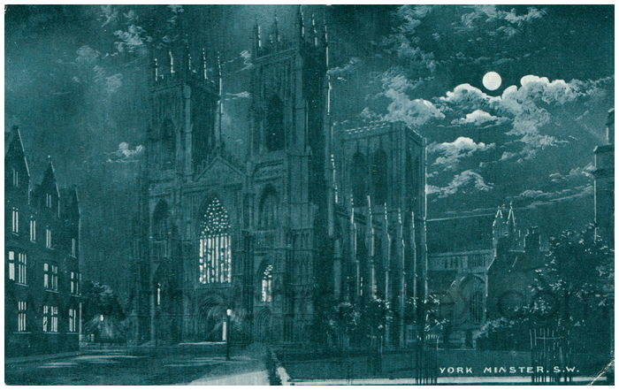 Postcard front: York Minster. S.W