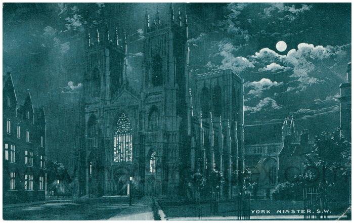 Postcard front: York Minster. S.W