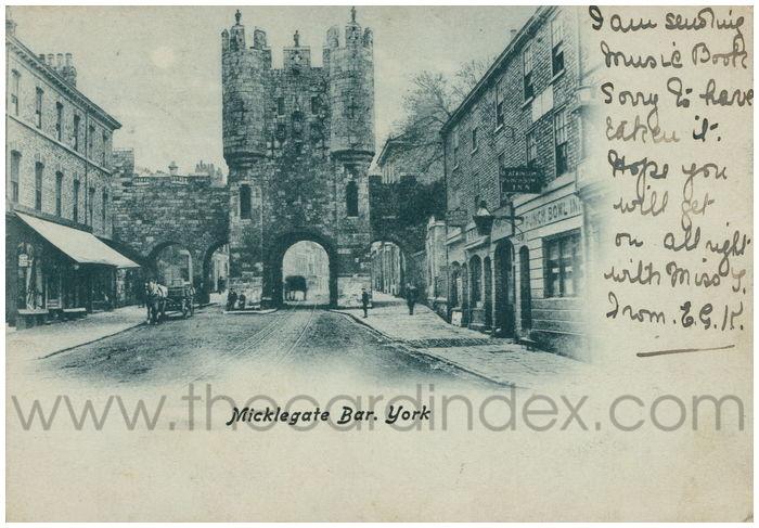 Postcard front: Micklegate Bar. York