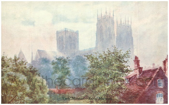 Postcard front: York Minster - Early Morning