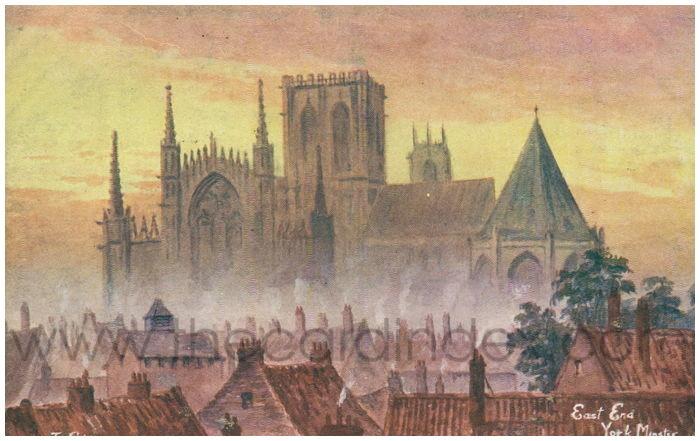 Postcard front: East End York Minster