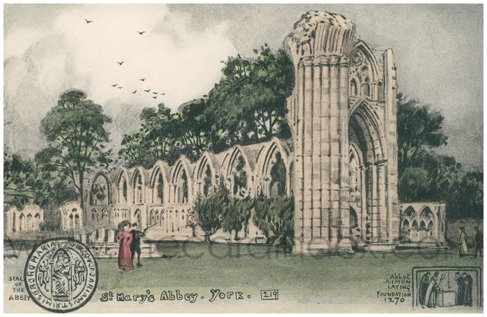 Postcard front: St. Mary's Abbey. York