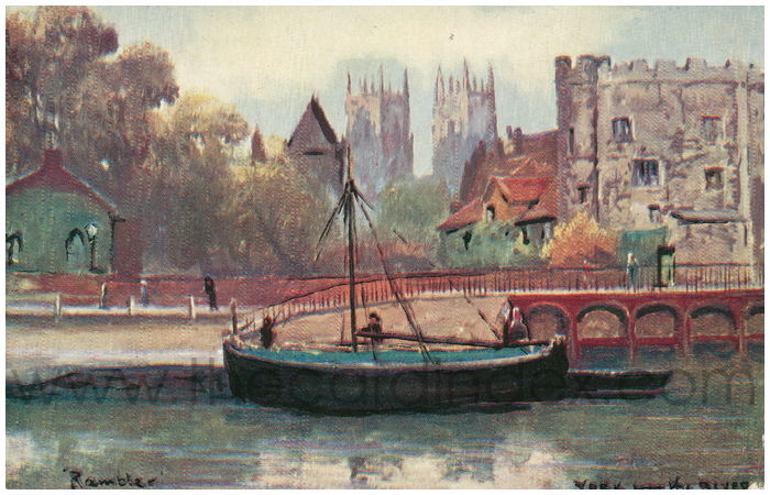 Postcard front: York from the River