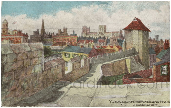 Postcard front: York from Fishergate Bar Walls