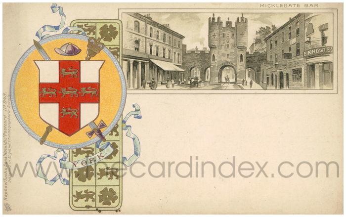 Postcard front: Micklegate Bar