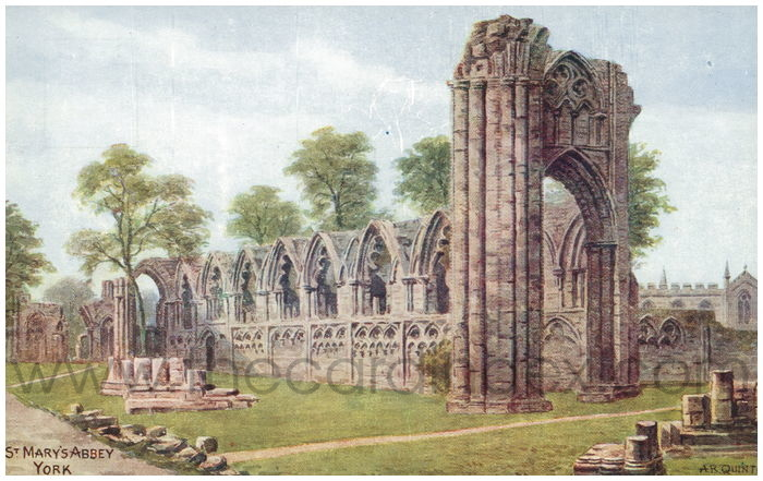 Postcard front: St. Mary's Abbey York