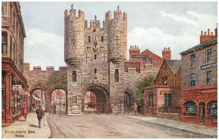 Postcard front: Micklegate Bar York
