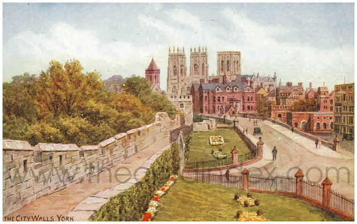 Postcard front: The City Walls York