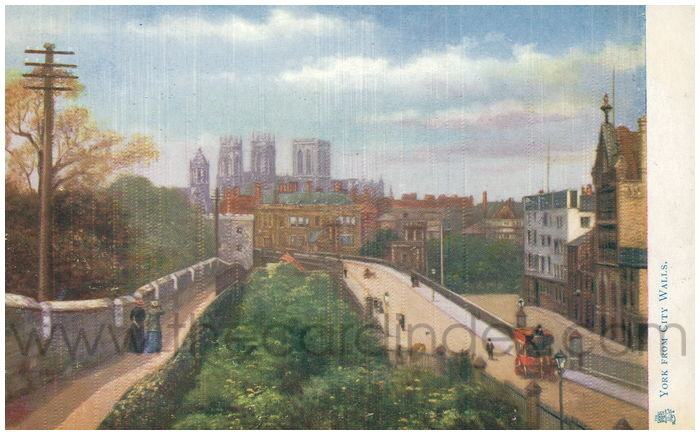 Postcard front: York from City Walls