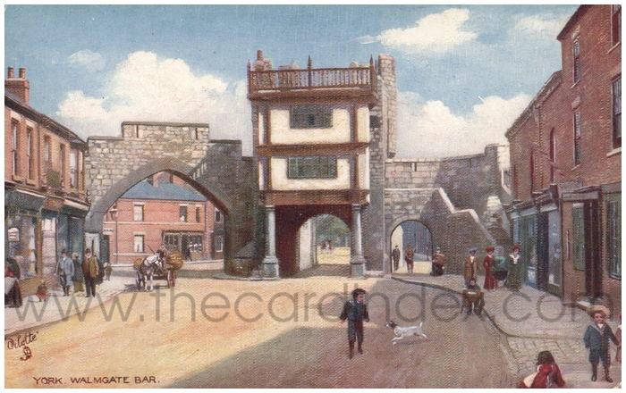 Postcard front: York. Walmgate Bar