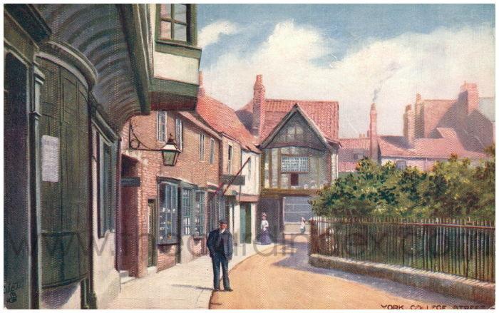 Postcard front: York. College Street