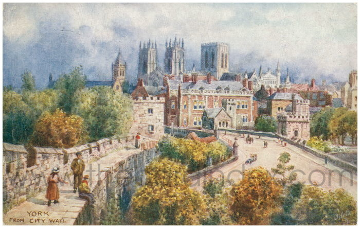 Postcard front: York From City Wall