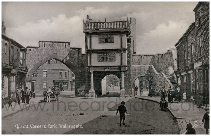 Postcard front: Quaint Corners York. Walmgate