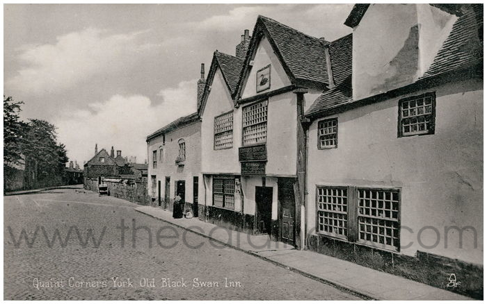 Postcard front: Quaint Corners York. Old Black Swan Inn